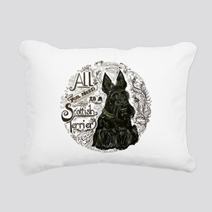 Scottie Basics Rectangular Canvas Pillow