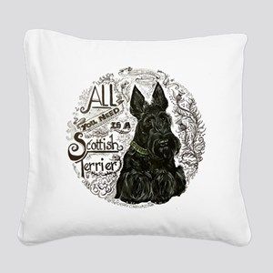 Scottie Basics Square Canvas Pillow