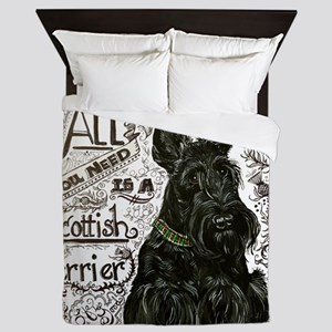 Scottie Basics Queen Duvet