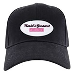 World's Greatest Aunt (pink) Black Cap