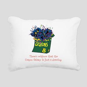 Crayon Galaxy Rectangular Canvas Pillow