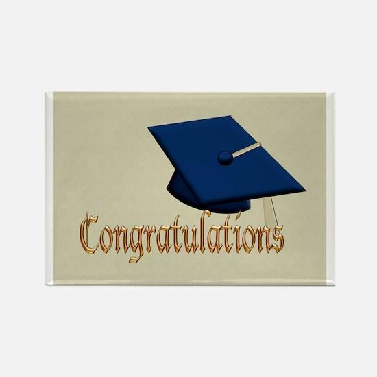 Graduation Hat Congratulations Rectangle Magnet