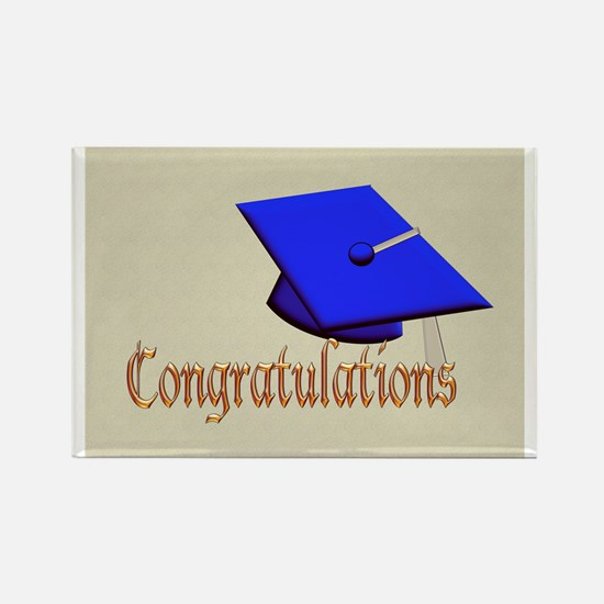 GraduationHat-Congratulations-v2 Rectangle Magnet