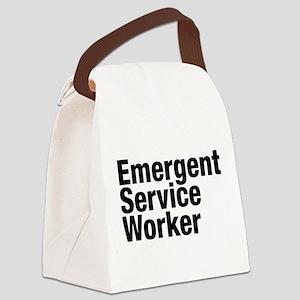 Emergent Service Worker Canvas Lunch Bag