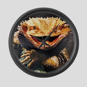 Grotesque Bearded Dragon Lizard Large Wall Clock
