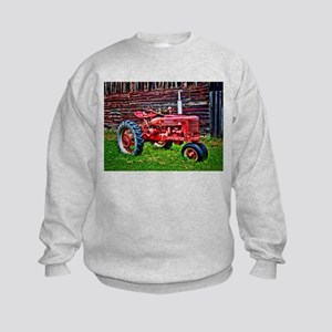 Red Tractor HDR Style Sweatshirt