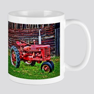 Red Tractor HDR Style Mugs