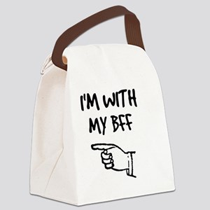 I'm With My BFF Canvas Lunch Bag