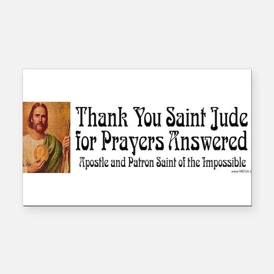 Cute Catholic patron saints Rectangle Car Magnet
