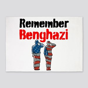 Remember Benghazi 5'x7'Area Rug