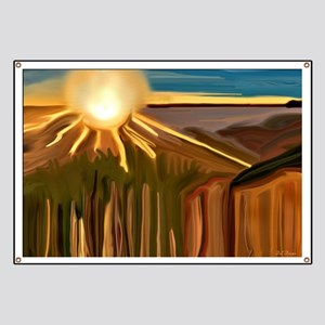 Dance of the Cacti Abstract Art Banner