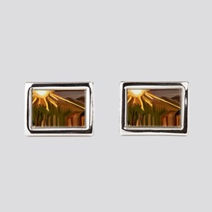 Dance of the Cacti Abstract  Rectangular Cufflinks
