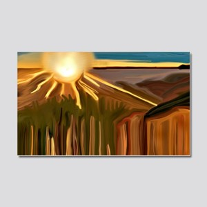 Dance of the Cacti Abstract Art Car Magnet 20 x 12