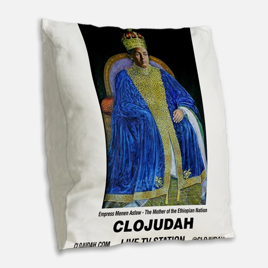 CLOJudah Empress Menen Asfaw Burlap Throw Pillow