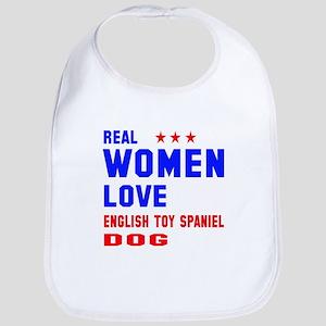 Real Women Love English Toy Spanie Cotton Baby Bib