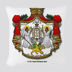 CLOJudah H.I.M. Royal Seal Woven Throw Pillow