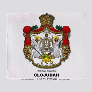 CLOJudah H.I.M. Royal Seal Throw Blanket