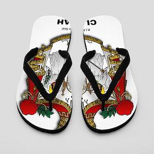 CLOJudah H.I.M. Royal Seal Flip Flops