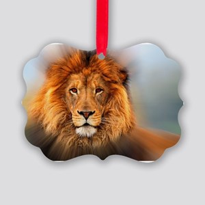 lion12345678910 Picture Ornament