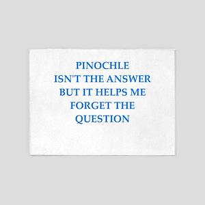 pinochle 5'x7'Area Rug