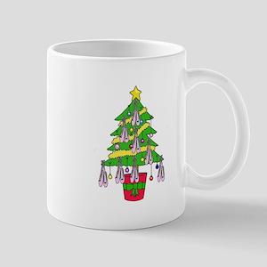 Ballet shoe Christmas tree . Mugs
