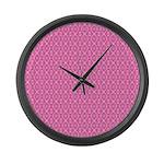 Pink Kaleidoscope Large Wall Clock