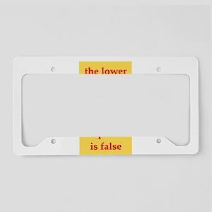 logic License Plate Holder