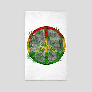 Peaceful Rasta Weed 3'x5' Area Rug