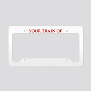 train of thought License Plate Holder