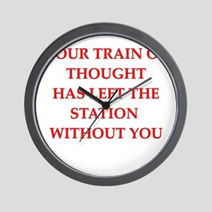 train of thought Wall Clock