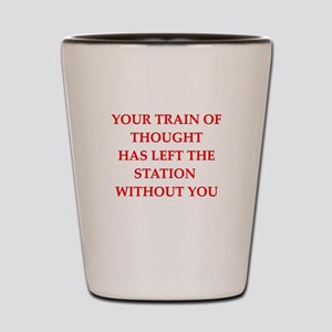 train of thought Shot Glass