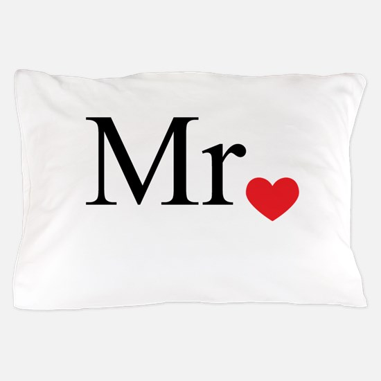 Mrs with heart dot - part of Mr and Mrs set Pillow