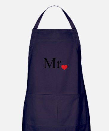 Mrs with heart dot - part of Mr and Mrs set Apron