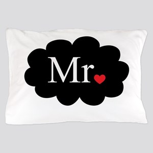 Mr with heart dot on cloud (Mr and Mrs set) Pillow