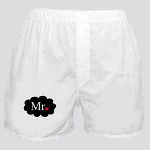 Mr with heart dot on cloud (Mr and Mrs set) Boxer