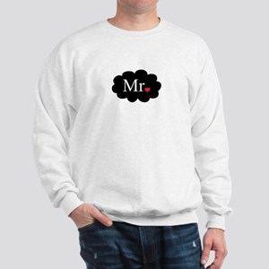 Mr with heart dot on cloud (Mr and Mrs set) Sweats