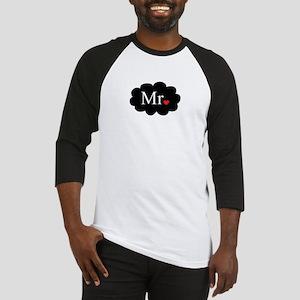 Mr with heart dot on cloud (Mr and Mrs set) Baseba