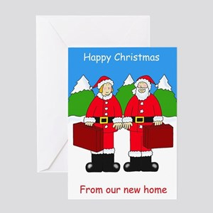 Happy Christmas from our new home. Greeting Cards
