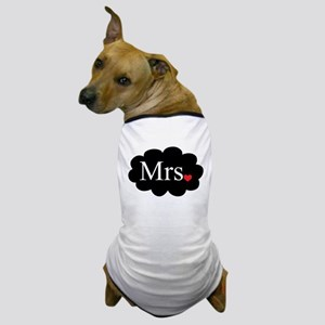 Mrs with heart dot on cloud (Mr and Mrs set) Dog T