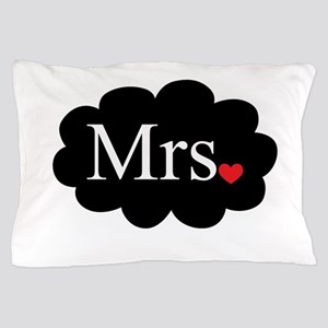 Mrs with heart dot on cloud (Mr and Mrs set) Pillo