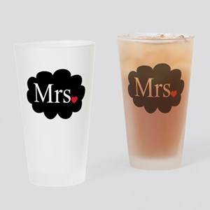 Mrs with heart dot on cloud (Mr and Mrs set) Drink