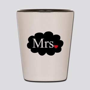 Mrs with heart dot on cloud (Mr and Mrs set) Shot