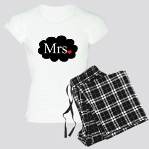 Mrs with heart dot on cloud (Mr and Mrs set) Pajam