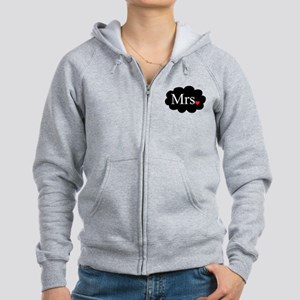Mrs with heart dot on cloud (Mr and Mrs set) Zip H