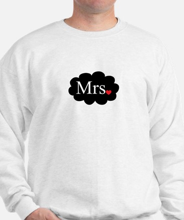 Mrs with heart dot on cloud (Mr and Mrs set) Sweat
