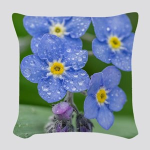 forget-me-not Woven Throw Pillow
