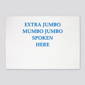 mumbo jumbo 5'x7'Area Rug