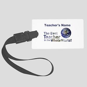 Custom Best Teacher Luggage Tag