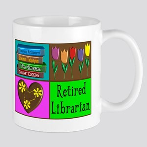 Retired Librarian Mugs