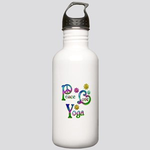 Peace Love Yoga Stainless Water Bottle 1.0L